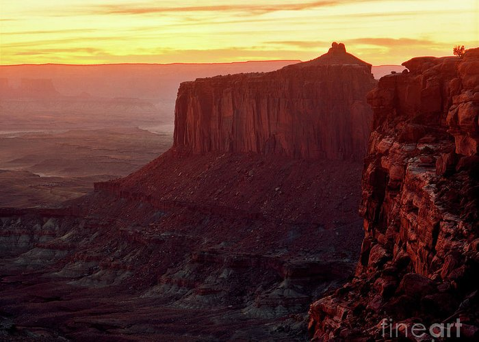Canyonlands National Park Greeting Card featuring the photograph Utah - Canyonlands National Park Sunset 2 by Terry Elniski