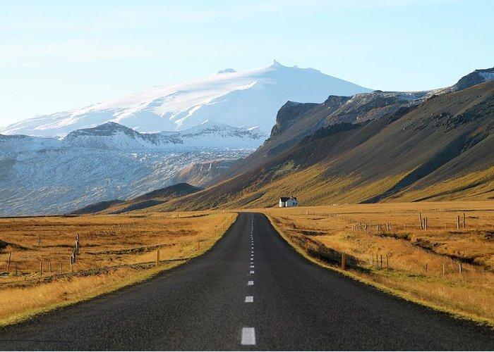 Iceland Greeting Card featuring the photograph Utnesvegur by Porter Glendinning