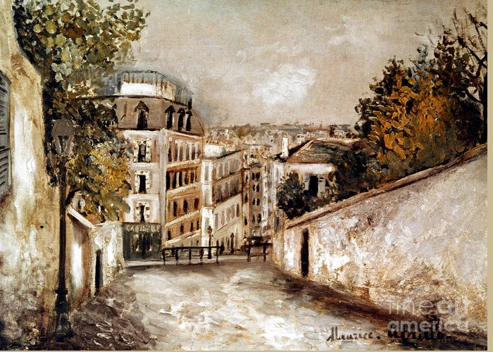 20th Century Greeting Card featuring the photograph Utrillo: Montmartre, 20th C by Granger