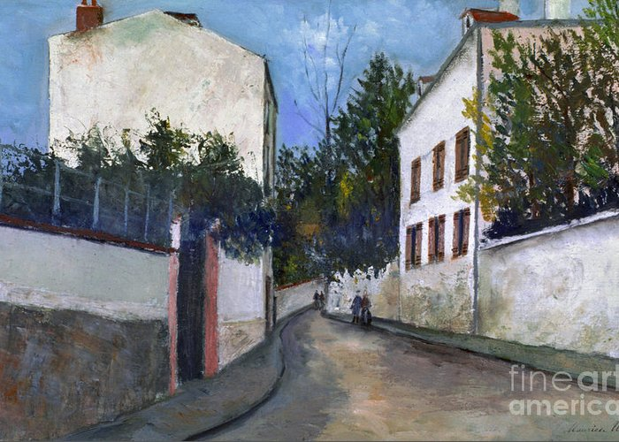 1912 Greeting Card featuring the photograph Utrillo: Sannois, 1912 by Granger