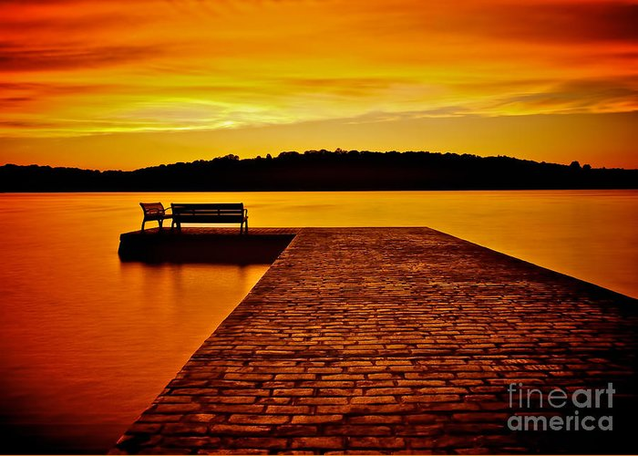 Vacant Sunset Greeting Card featuring the photograph Vacant Sunset by Mark Miller