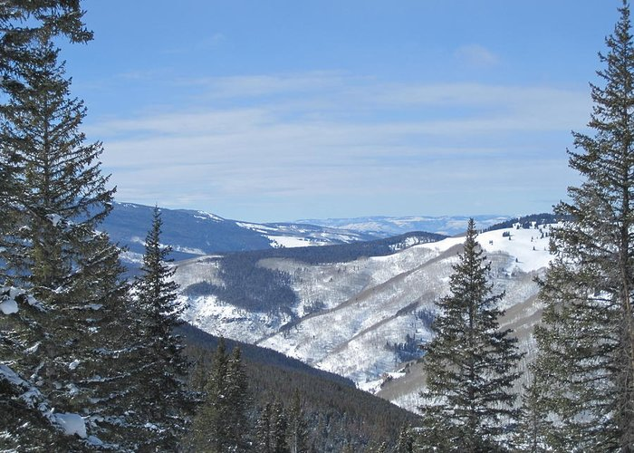 Mountains Greeting Card featuring the photograph Vail Colorado II by Lori Kulpinski
