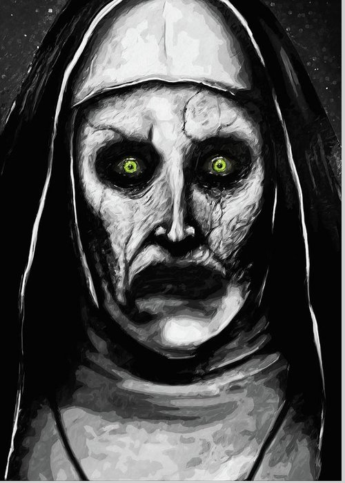 Valak the demon nun greeting card for sale by zapista valak the demon nun greeting card featuring the digital art valak the demon nun by zapista m4hsunfo