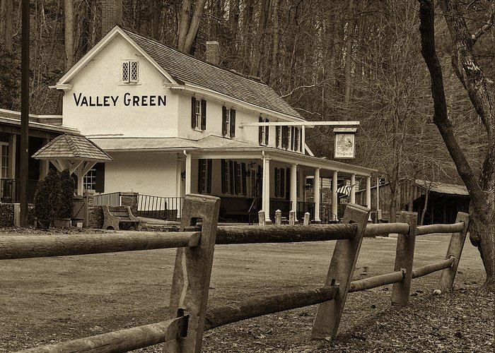 Philadelphia Greeting Card featuring the photograph Valley Green by Jack Paolini