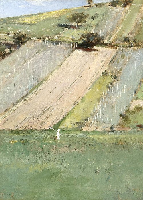 Theodore Robinson Greeting Card featuring the painting Valley Of The Seine, Giverny by Theodore Robinson