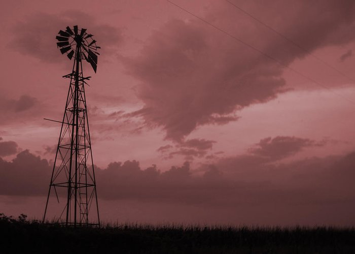 Windmill Greeting Card featuring the photograph Values Of Iowa by Jame Hayes