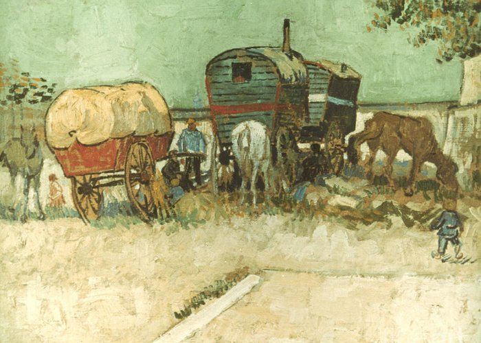 1888 Greeting Card featuring the photograph Van Gogh: Gypsies, 1888 by Granger