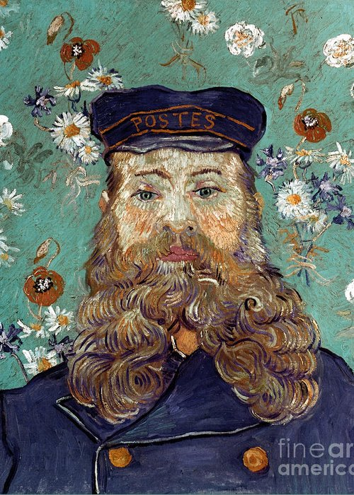 1889 Greeting Card featuring the photograph Van Gogh: Postman, 1889 by Granger