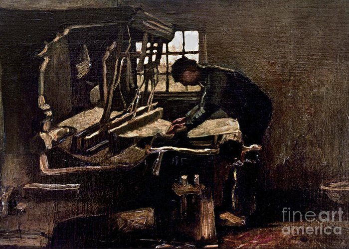 1884 Greeting Card featuring the photograph Van Gogh: Weaver, 1884 by Granger