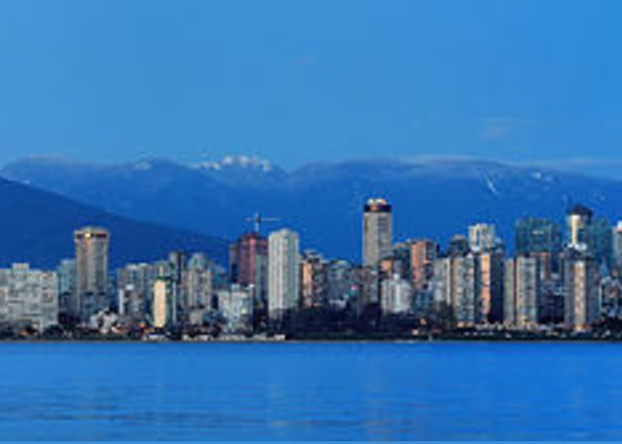 Vancouver Greeting Card featuring the photograph Vancouver Panorama  This Can Be Printed Very Large by Pierre Leclerc Photography