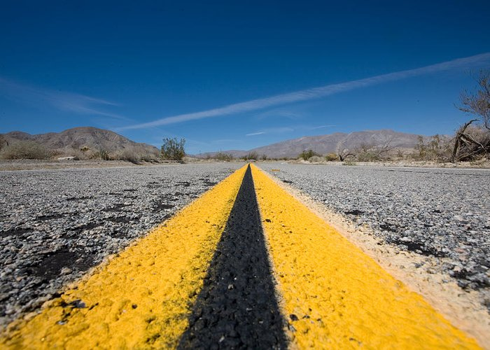 Agua Caliente Greeting Card featuring the photograph Vanishing Point by Peter Tellone