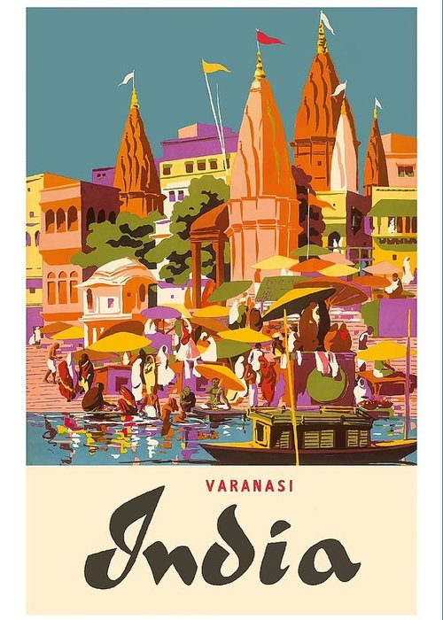 Ganges River Greeting Cards