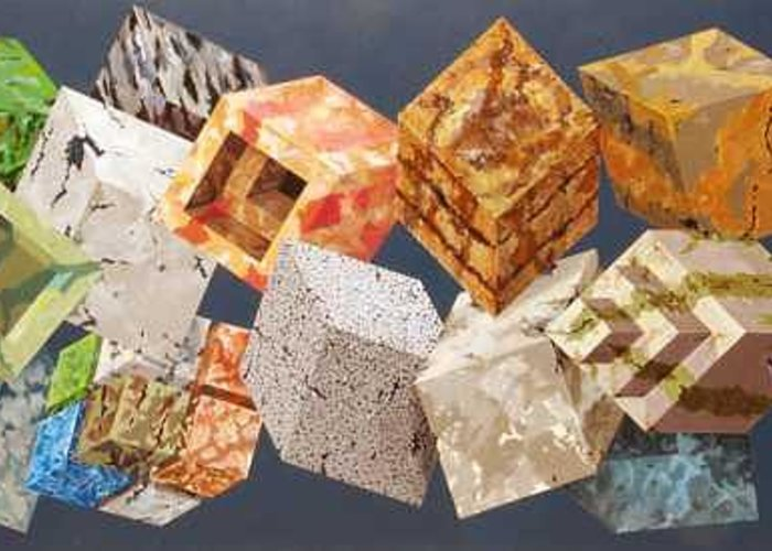 Optical Greeting Card featuring the painting Variations in Stone by Marston A Jaquis