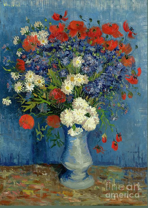 Still-life With Flowers Greeting Cards