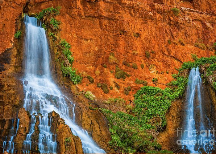 America Greeting Card featuring the photograph Vaseys Paradise Twin Falls by Inge Johnsson