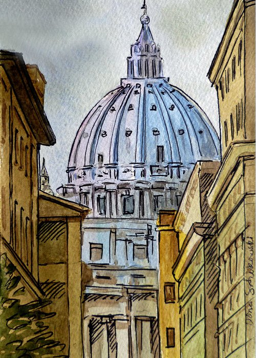 Travel Sketch Italy Greeting Cards