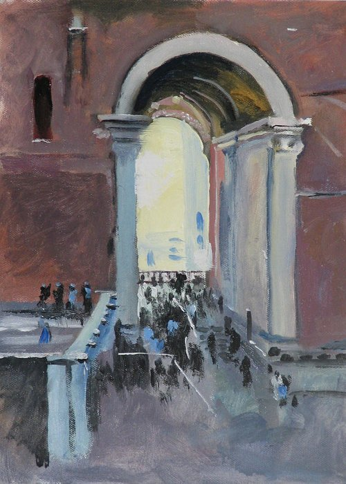Rome Greeting Card featuring the painting Vatican by Robert Bissett