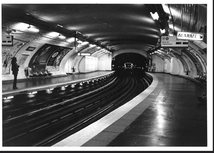 Cityscape Greeting Card featuring the photograph Vavin Station Paris Metro by Gordon Lukesh