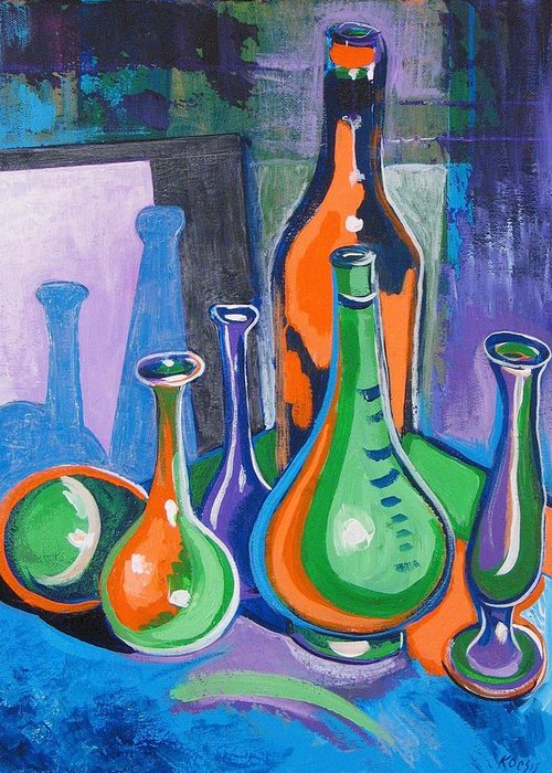 Still Life Greeting Card featuring the painting VBOG Still Life #7 by Rollin Kocsis
