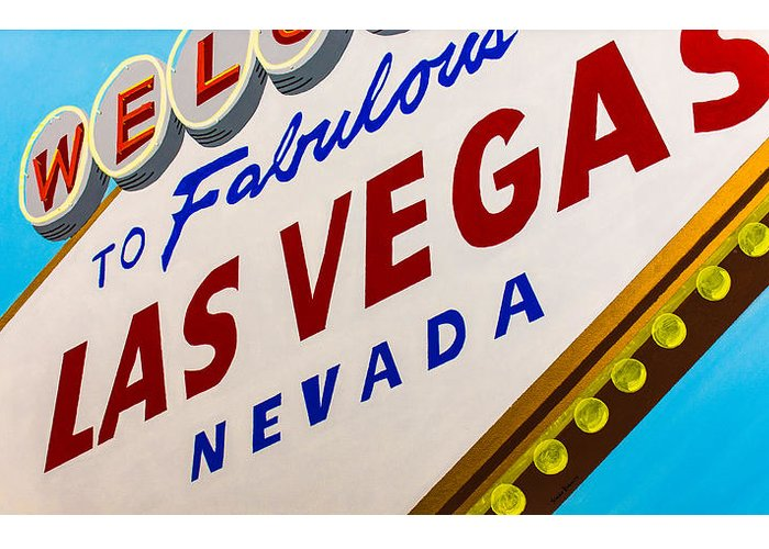 Las Vegas Greeting Card featuring the painting Vegas Tribute by Slade Roberts