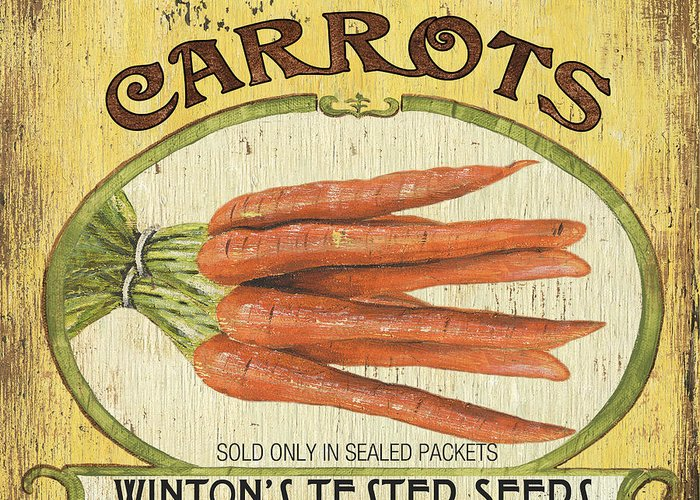 Food Greeting Card featuring the painting Veggie Seed Pack 4 by Debbie DeWitt