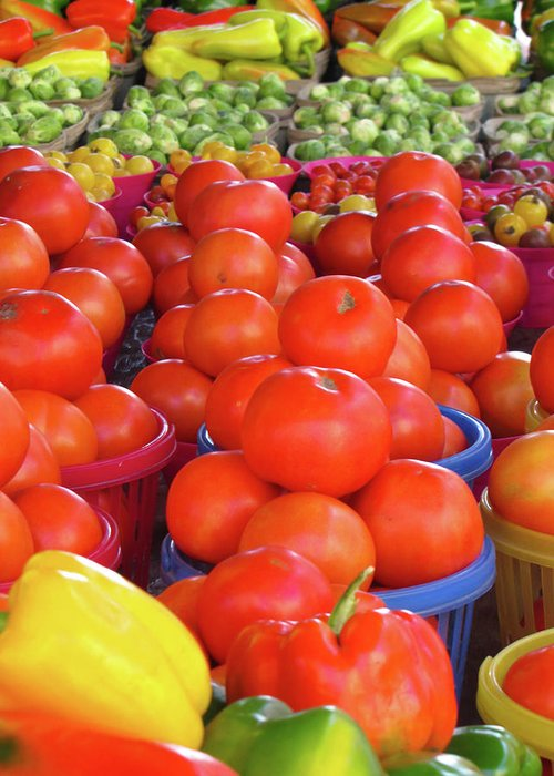 Tomato Greeting Card featuring the photograph Veggies by J Havnen