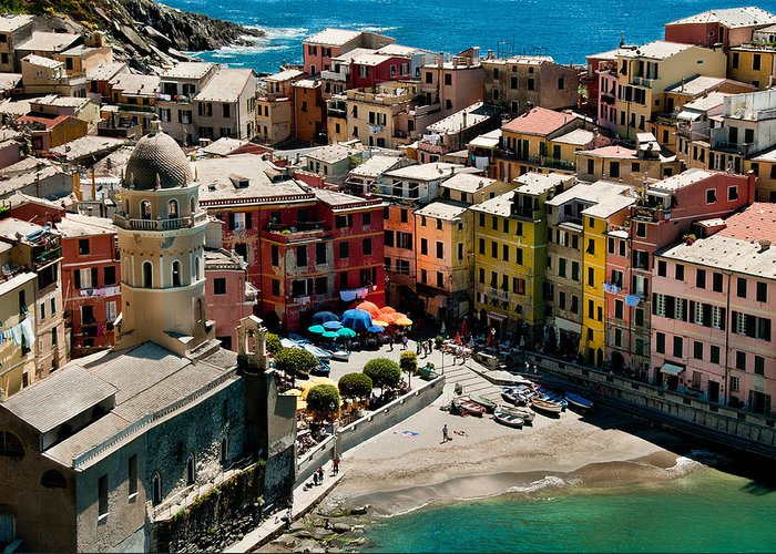 Ligurian Greeting Card featuring the photograph Venazza Cinque Terre Italy by Xavier Cardell