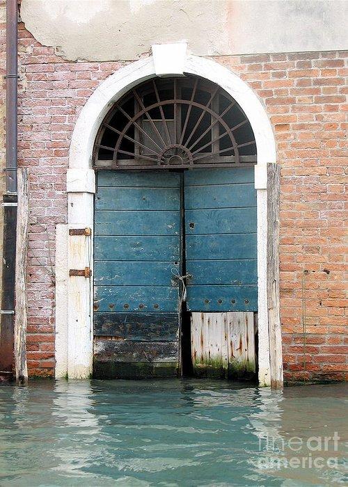 Angelica Dichiara Paintings Greeting Card featuring the photograph Venetian Door by Italian Art