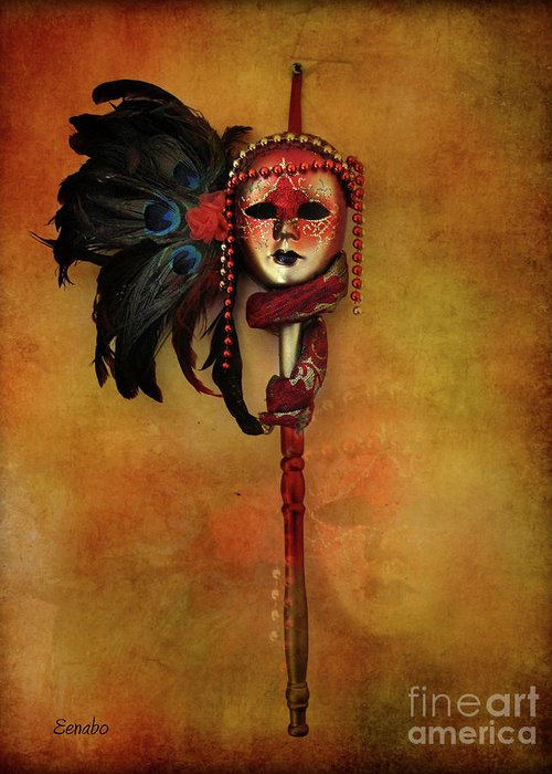 Carnival Mask Greeting Card featuring the photograph Venetian Mask by Eena Bo