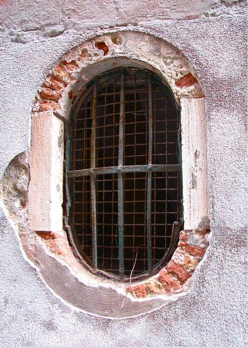 Angelica Dichiara Greeting Card featuring the photograph Venetian Window by Italian Art