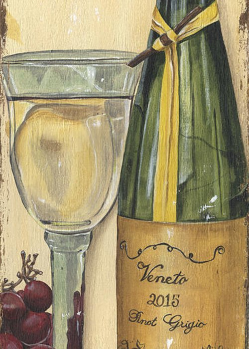 White Wine Greeting Cards