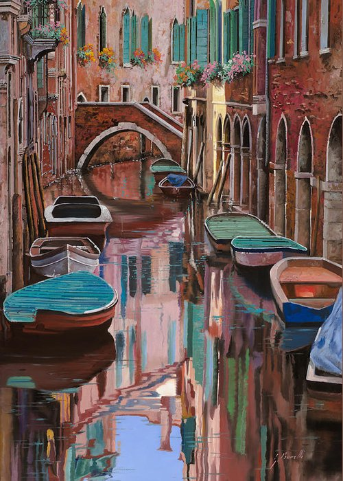 Venice Greeting Card featuring the painting Venezia A Colori by Guido Borelli