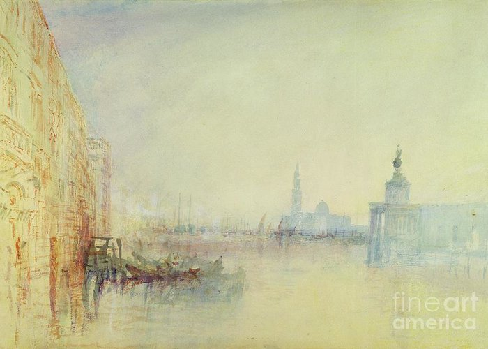 Venice Greeting Card featuring the painting Venice - The Mouth Of The Grand Canal by Joseph Mallord William Turner