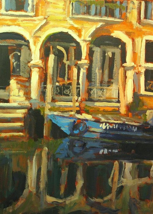 Venice Paintings Greeting Card featuring the painting Venice by Brian Simons