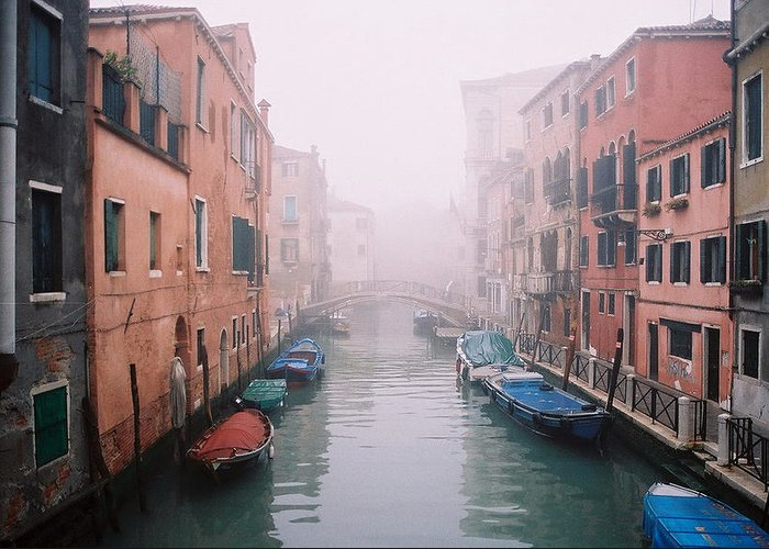 Venice Greeting Card featuring the photograph Venice Canal I by Kathy Schumann