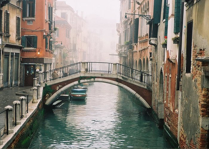 Venice Greeting Card featuring the photograph Venice Canal II by Kathy Schumann