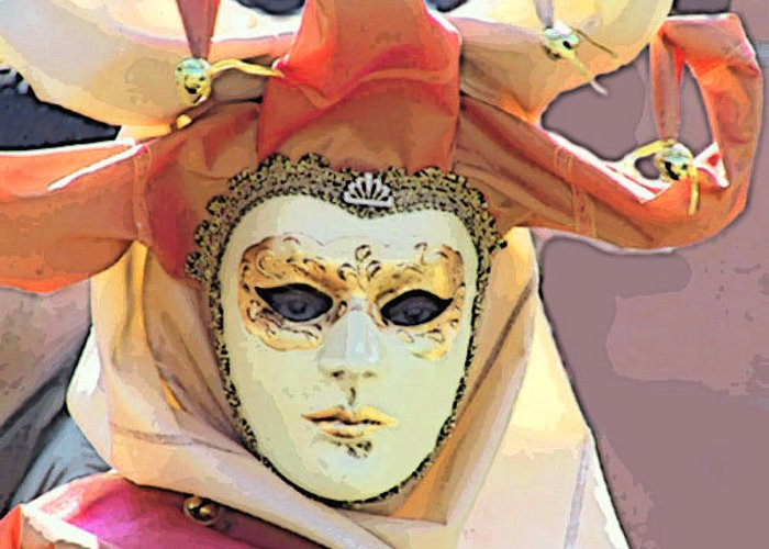 Angelica Dichiara Greeting Card featuring the photograph Venice- Carnivalmask by Italian Art