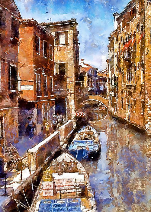 Venice Greeting Card featuring the photograph Venice I by Gareth Davies