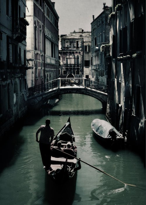 Gondolier Photographs Greeting Cards