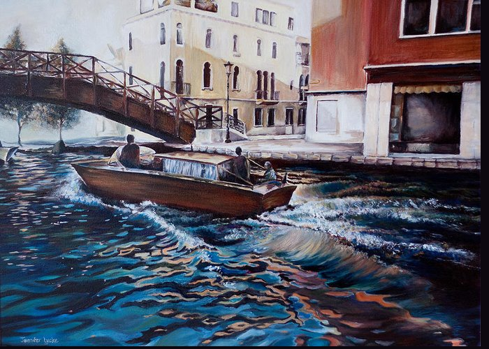 Venice Greeting Card featuring the painting Venice by Jennifer Lycke