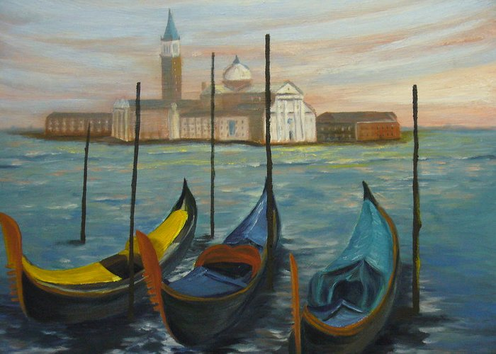 Italy Greeting Card featuring the painting Venice by Joe Lanni