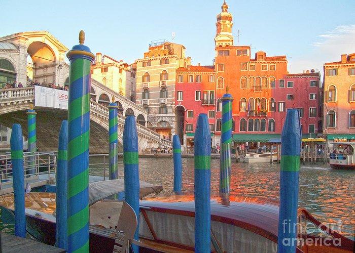Venice Greeting Card featuring the photograph Venice Rialto Bridge by Heiko Koehrer-Wagner