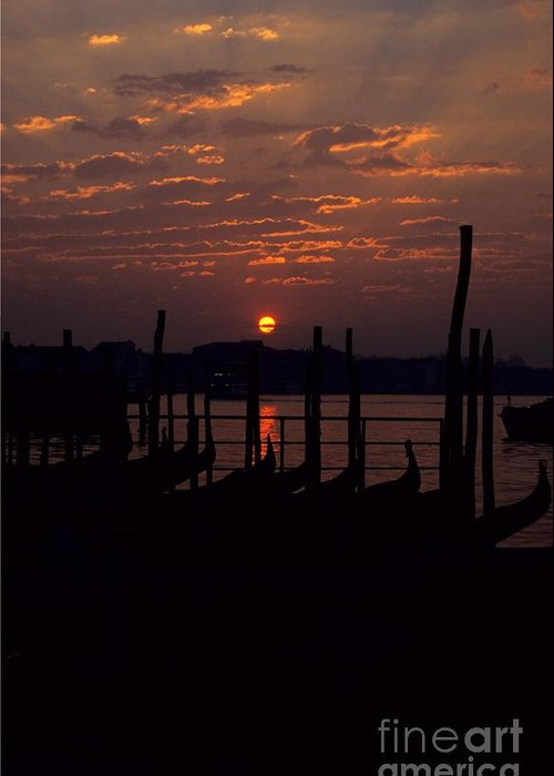 Venice Greeting Card featuring the photograph Venice Sunrise by Michael Henderson