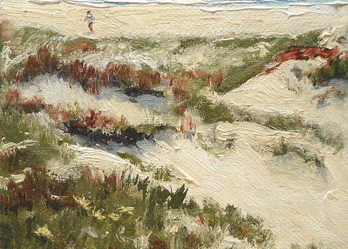Water Greeting Card featuring the painting Ventura Dunes II by Barbara Andolsek