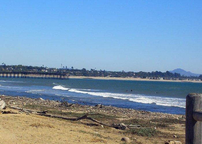 Beach Greeting Card featuring the photograph Ventura Pier 2 by Robin Hernandez