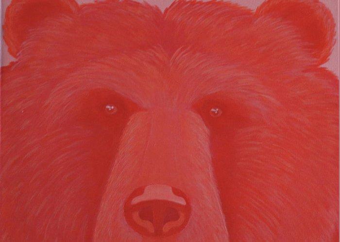 Vermillion Bear Greeting Card
