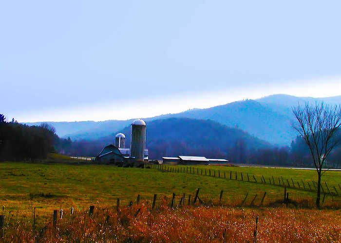 Vermont Greeting Card featuring the photograph Vermont Farm by Bill Cannon