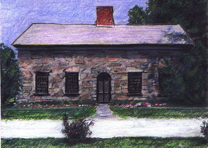 Vermont Greeting Card featuring the drawing Vermont House by Alicia Kroll