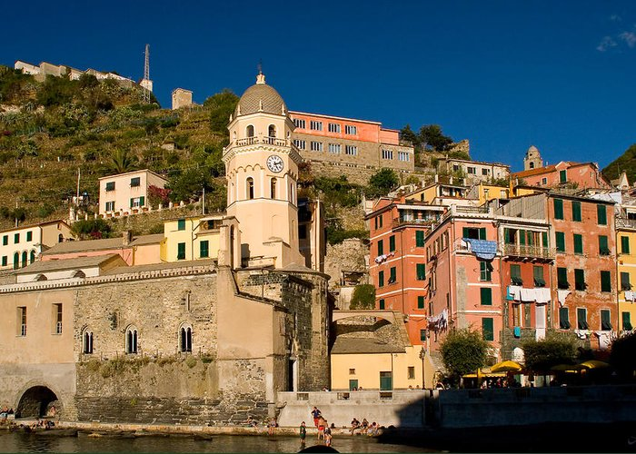 Italy Greeting Card featuring the photograph Vernazza by Carl Jackson