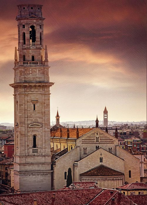 Italy Rooftops Greeting Cards